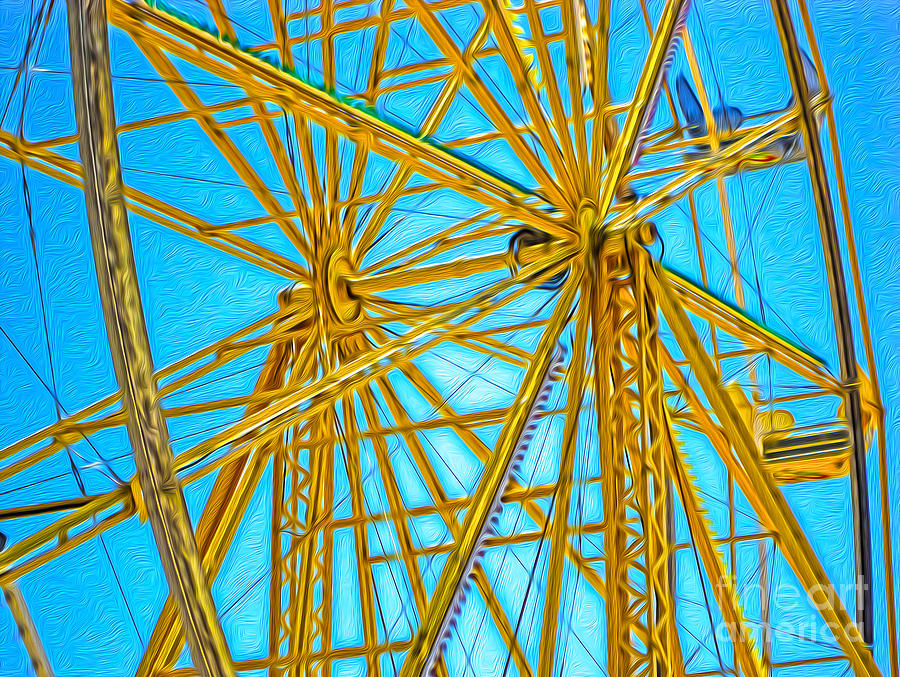 Ferris Wheel Painting  - Ferris Wheel Fine Art Print