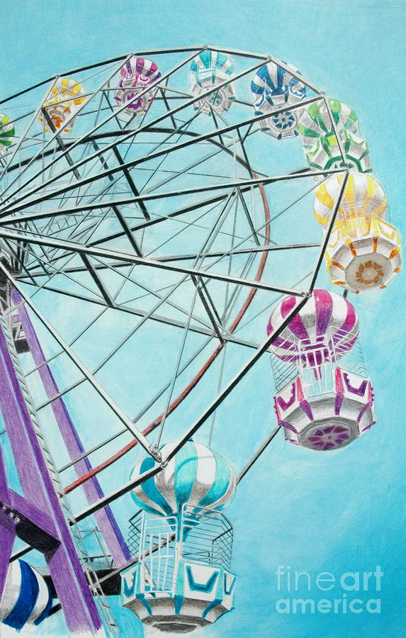 Ferris Wheel View Painting  - Ferris Wheel View Fine Art Print