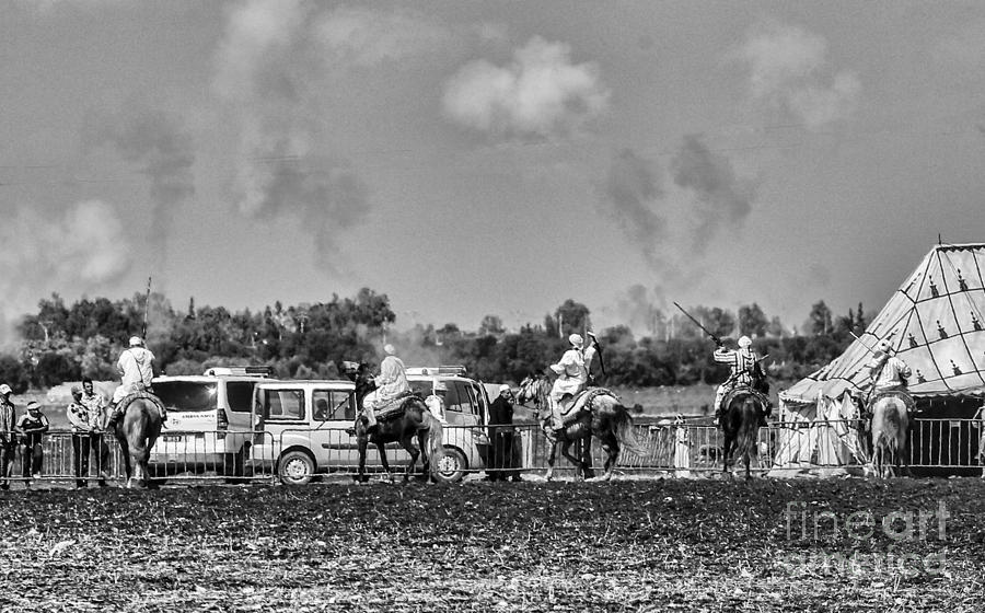 Morocco Photograph - Festival Final Bw by Chuck Kuhn