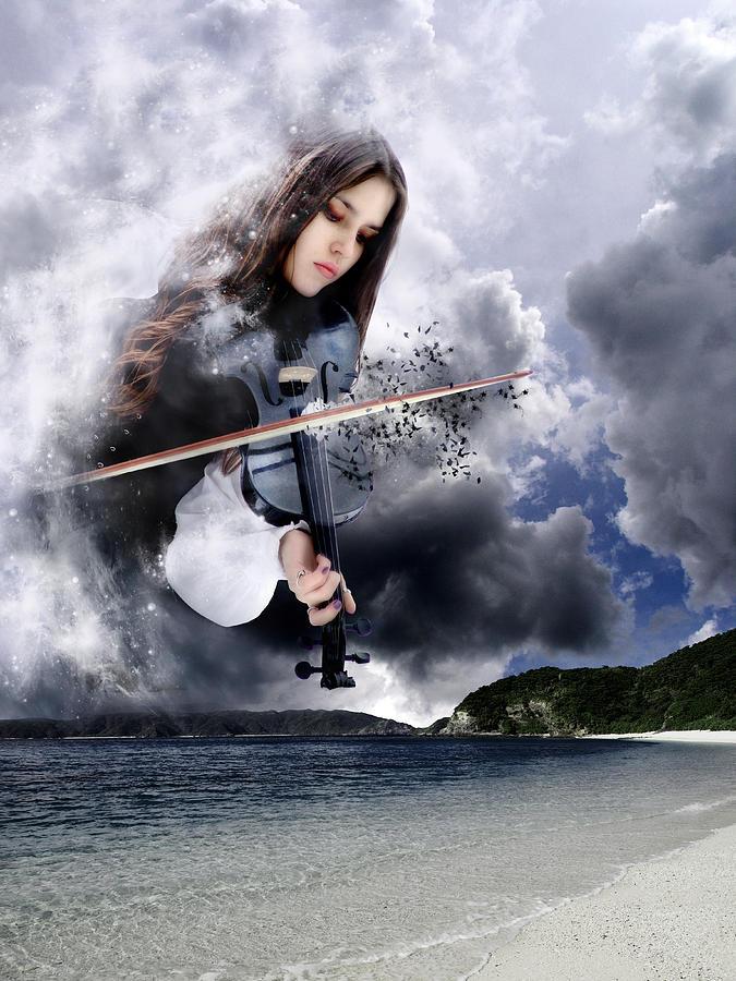 Fiddling Up A Storm Digital Art