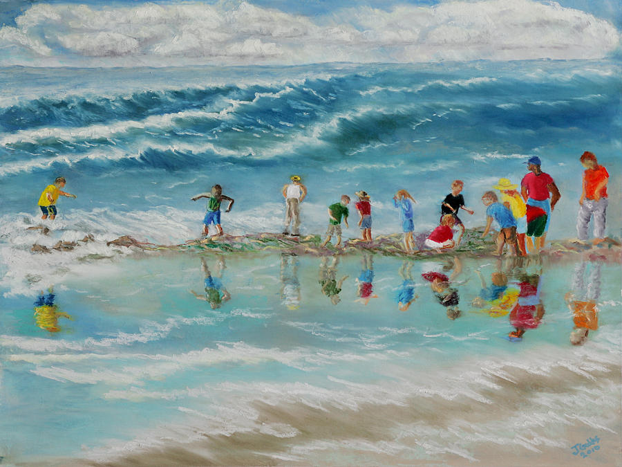 Field Trip To The Beach Painting