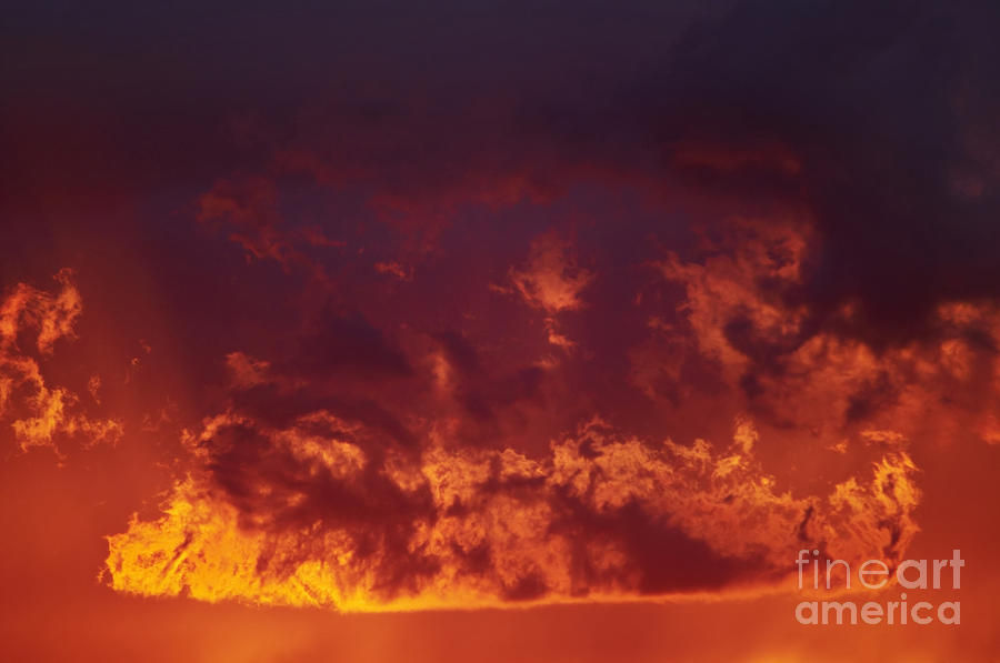Fiery Clouds Photograph