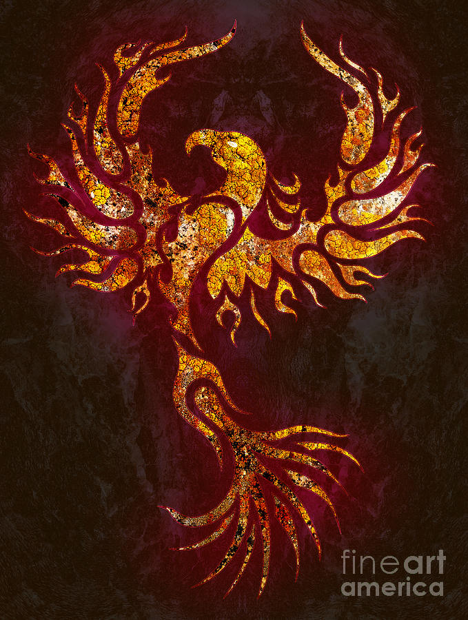 Fiery Phoenix Digital Art