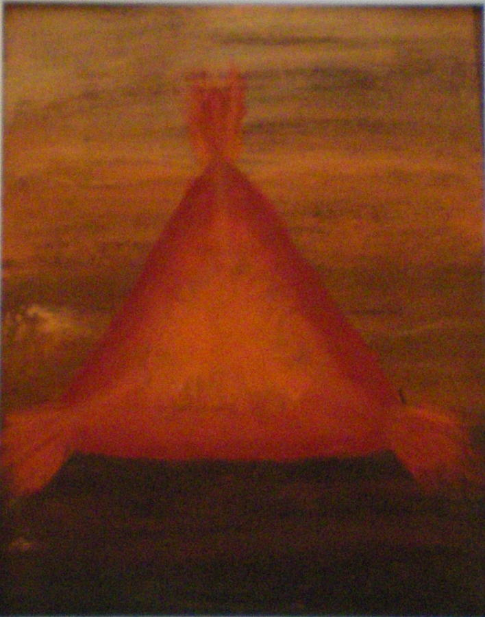 Fiery Pyramid Series 1 Painting