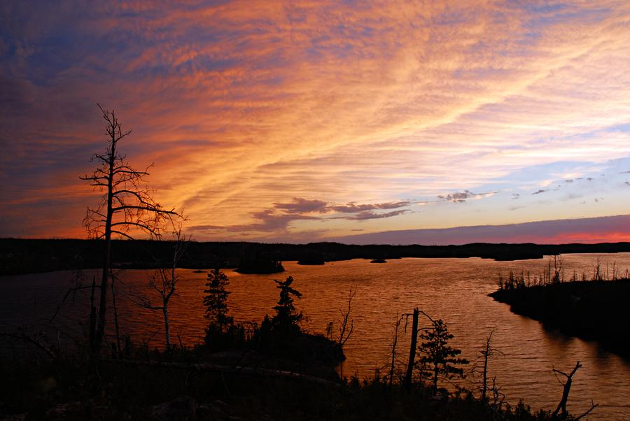 Fiery Sunset Over Seagull Lake Photograph