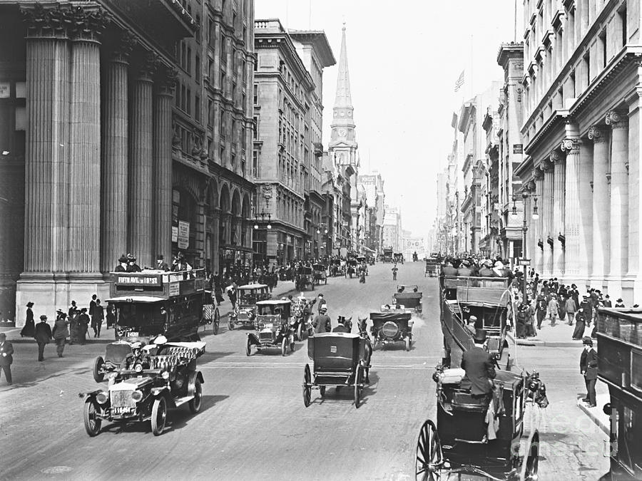 Fifth Avenue And East 34th Street New York City 1907 Photograph  - Fifth Avenue And East 34th Street New York City 1907 Fine Art Print