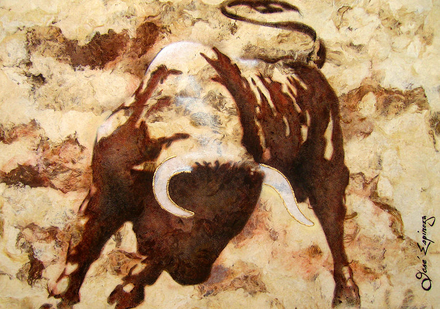 Fight Bull Painting