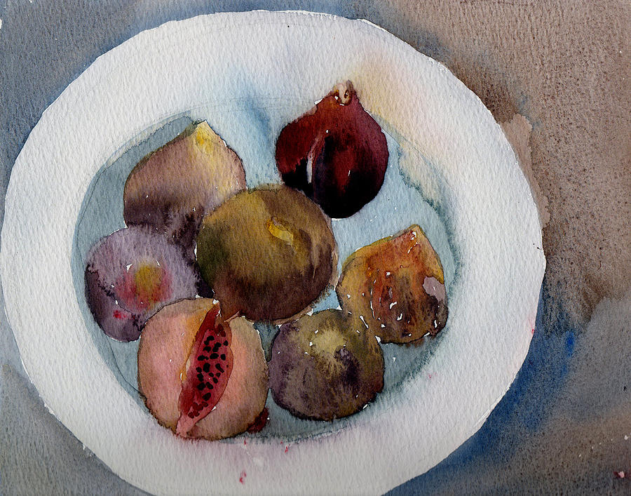 Figs On A Plate Painting