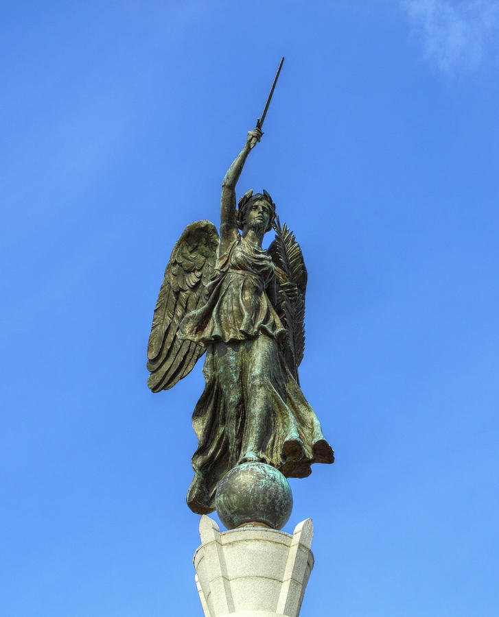 Figure Of Winged Victory At Gettysburg Photograph  - Figure Of Winged Victory At Gettysburg Fine Art Print
