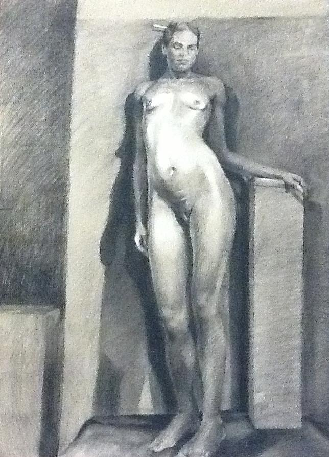 Figure Study No1 Drawing