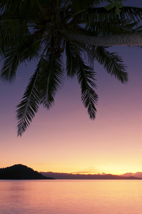 Fiji Sunset Glow Photograph  - Fiji Sunset Glow Fine Art Print