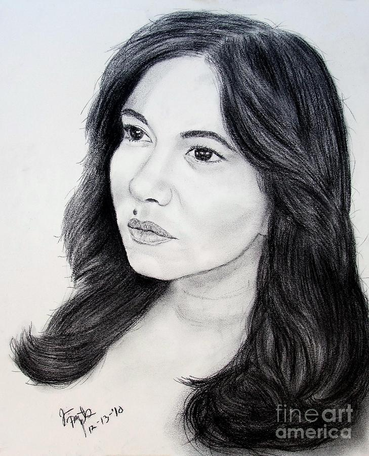 Filipina Beauty And Actress Lorna Tolentino Drawing