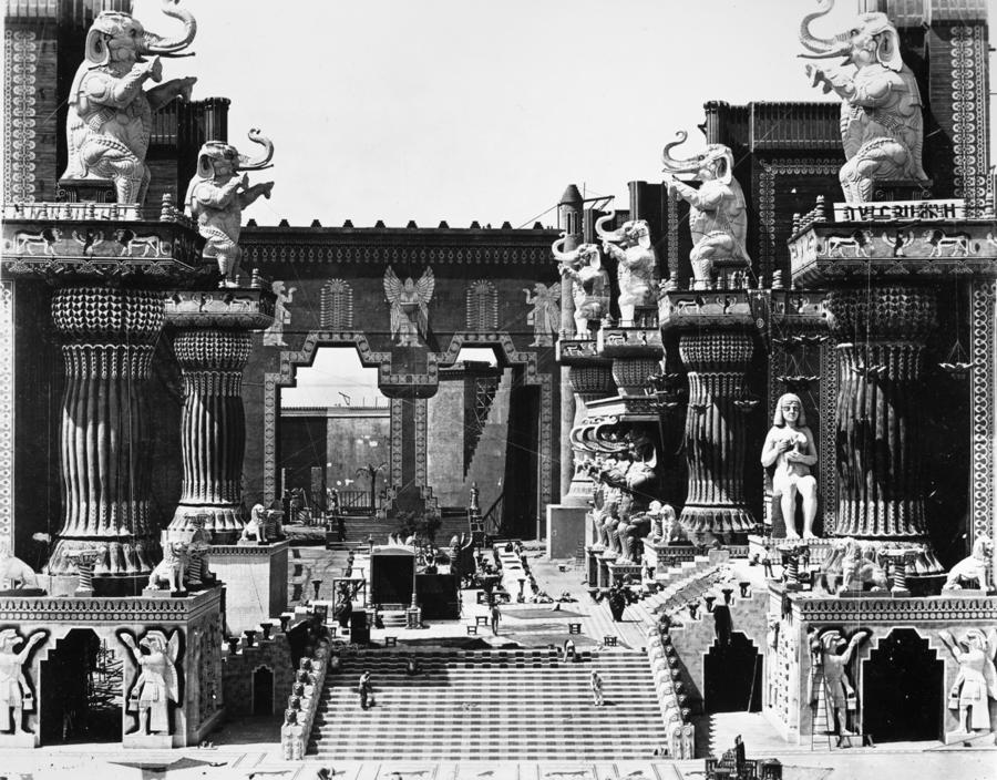 Film Set: Intolerance, 1916 Photograph