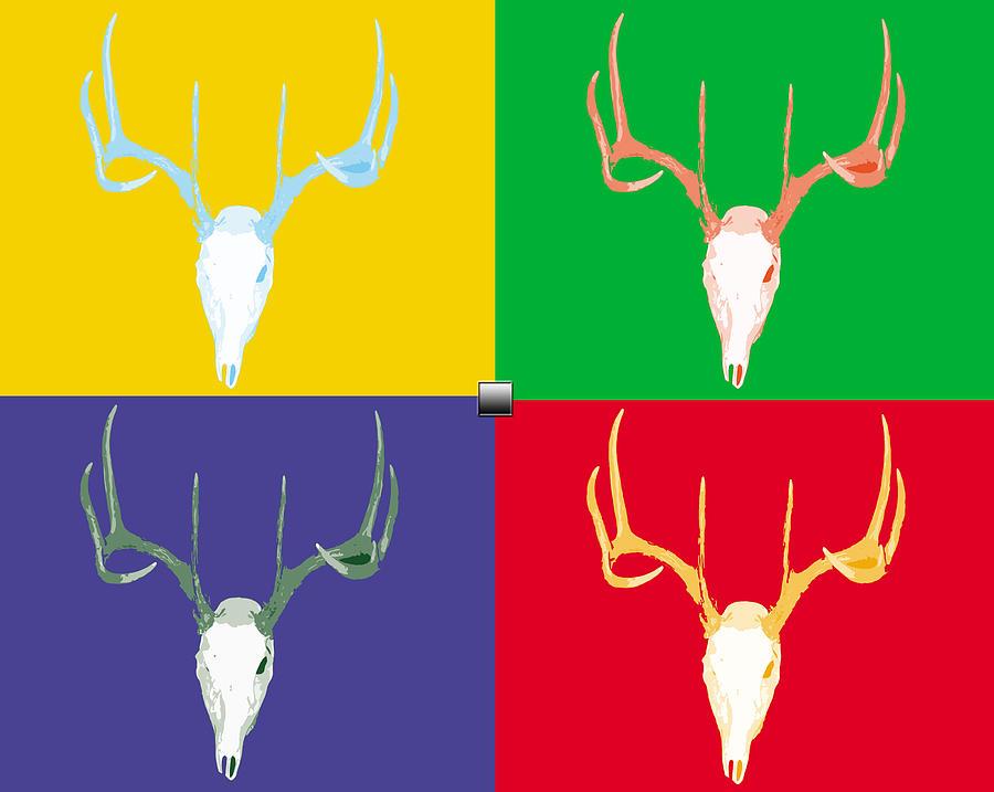 Filtered Deer Digital Art