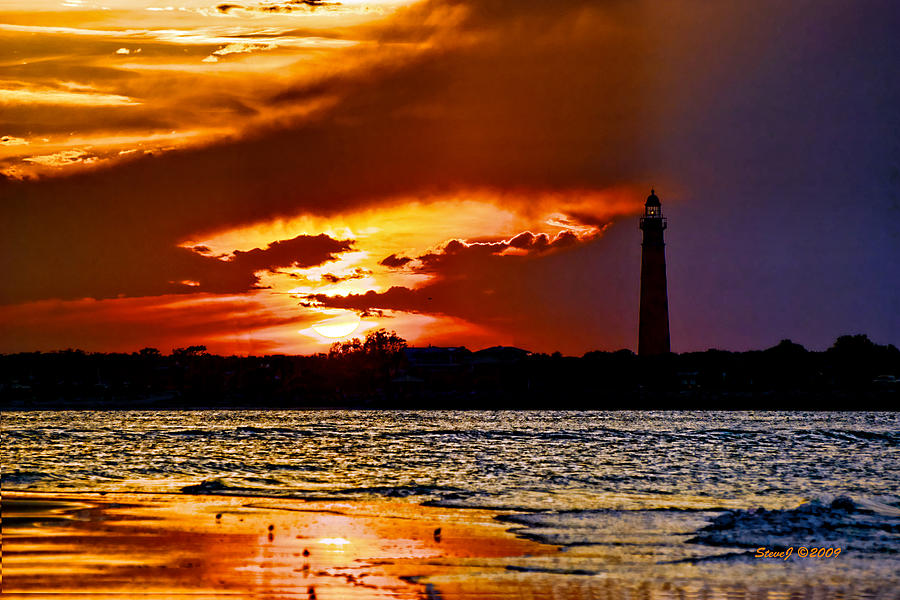 Final Sunset Ponce Lighthouse Photograph  - Final Sunset Ponce Lighthouse Fine Art Print