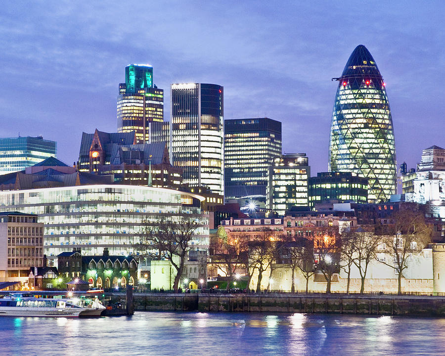 Financial City Skyline, London Photograph