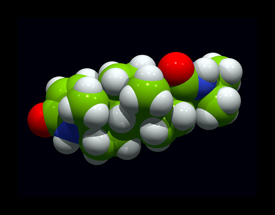 Finasteride Hair Loss Drug Molecule Photograph