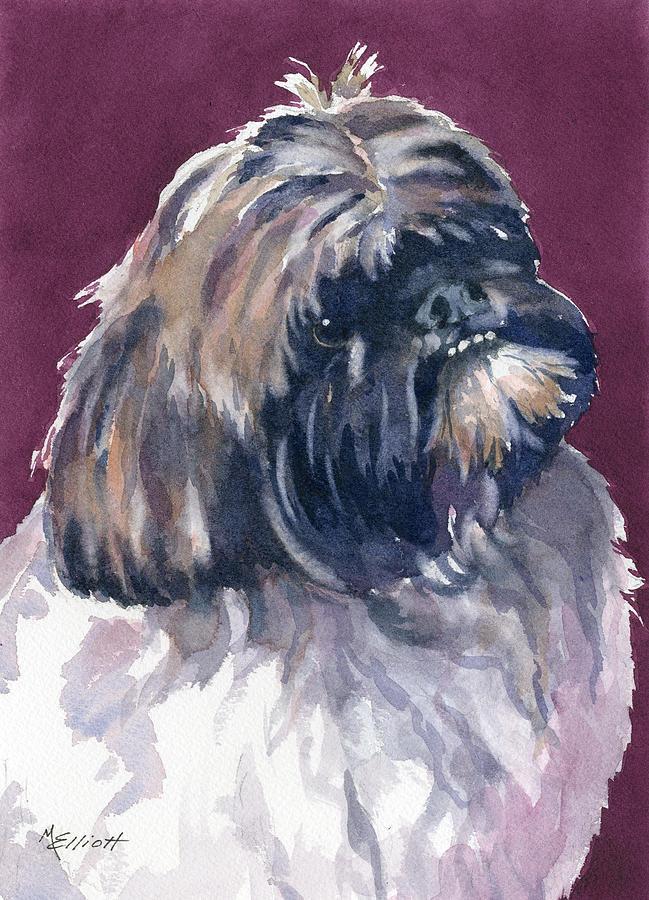 Dog Painting - Finnigan by Marsha Elliott