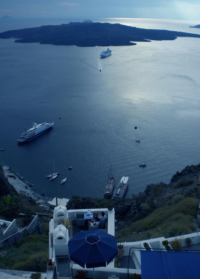 Fira Town View Santorini Photograph