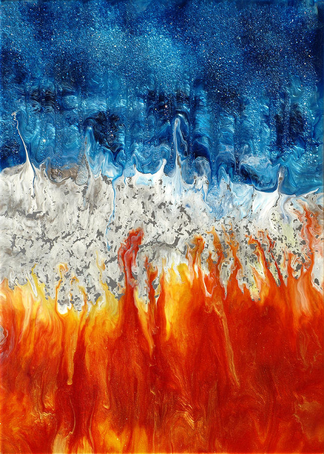 Fire And Ice Painting  - Fire And Ice Fine Art Print