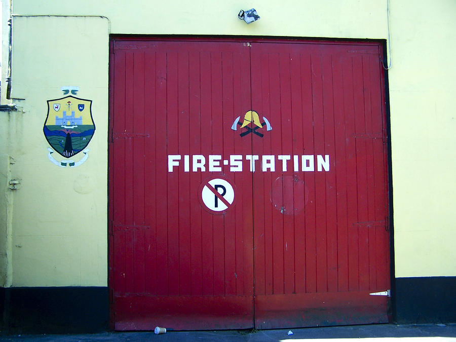 Fire Door In Macroom Ireland Photograph  - Fire Door In Macroom Ireland Fine Art Print