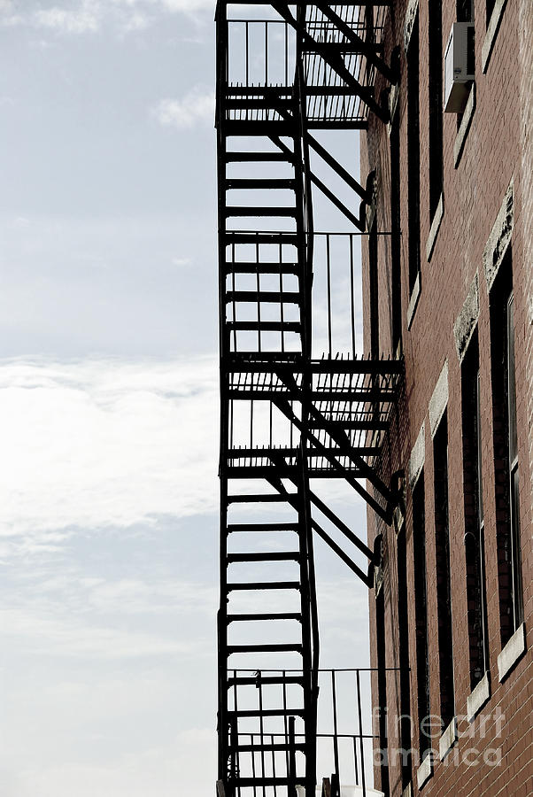Fire Escape In Boston Photograph  - Fire Escape In Boston Fine Art Print