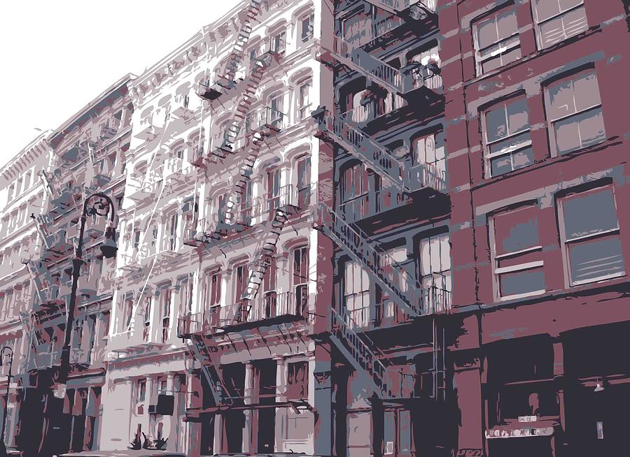 Fire Escapes Color 6 Photograph  - Fire Escapes Color 6 Fine Art Print