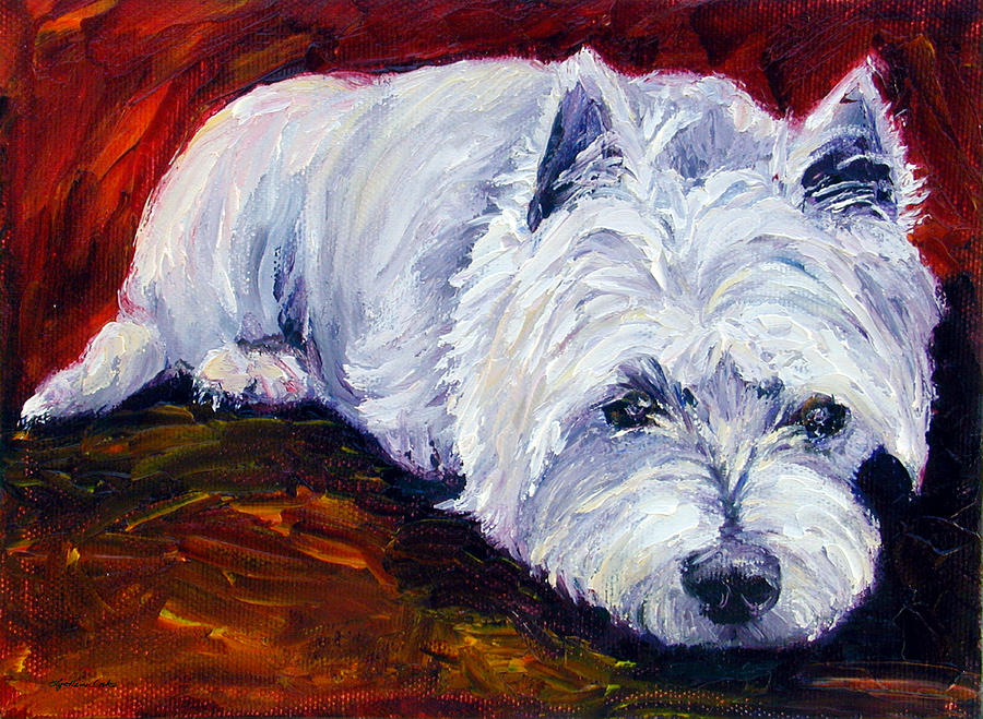 Fire Glow - West Highland White Terrier Painting