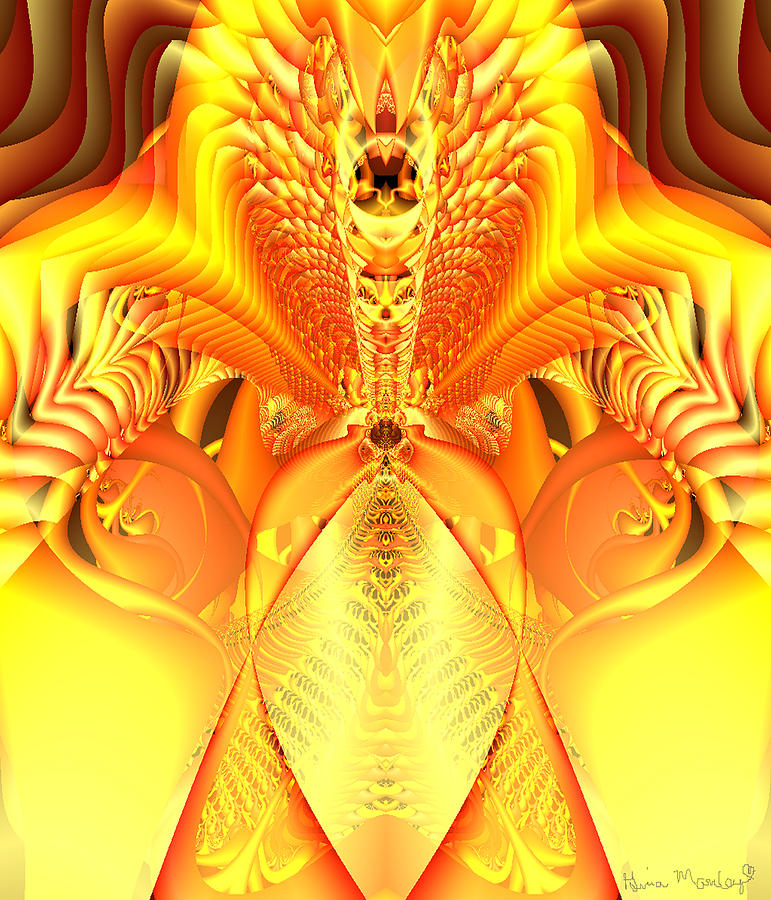 Fire Goddess Digital Art  - Fire Goddess Fine Art Print