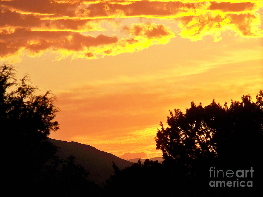 Fire In The Sky 1 Photograph  - Fire In The Sky 1 Fine Art Print