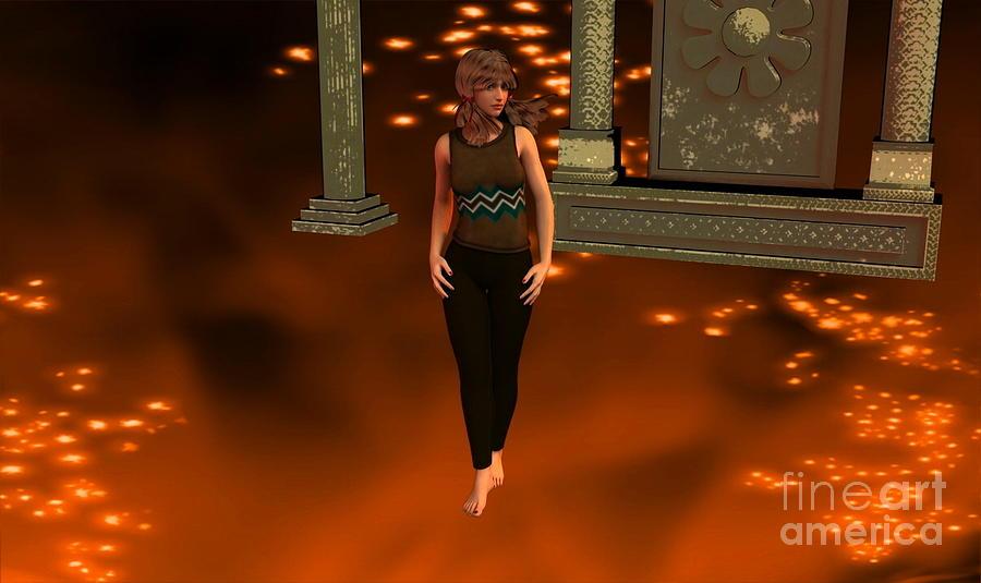 Fire Lady Wall Digital Art - Fire Lady by Stanley Morganstein