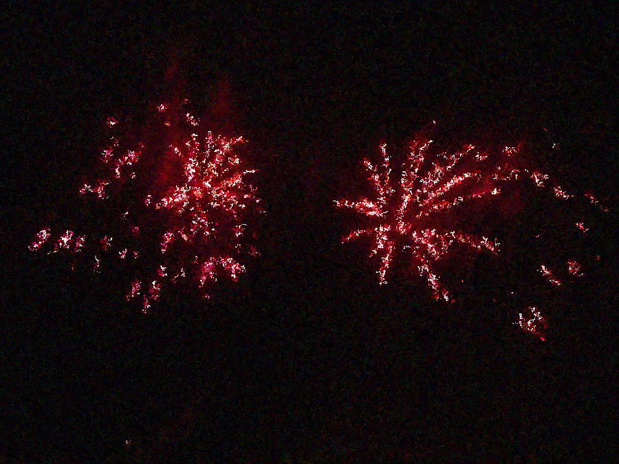 Fire Works Show Stippled Paint 6 Canada Photograph