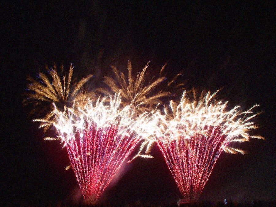 Fire Works Show Stippled Paint 7 Canada Photograph