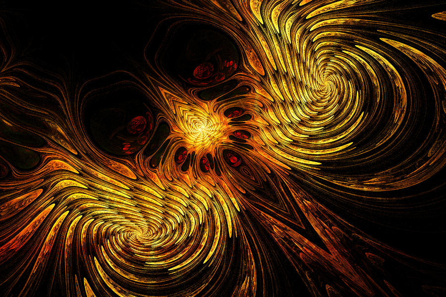 Firebird Digital Art  - Firebird Fine Art Print