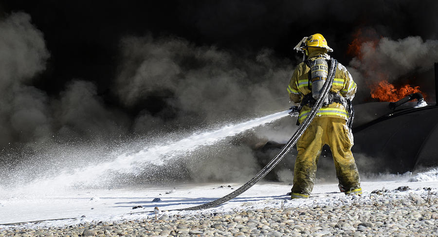 Firefighters In Action 10 is a photograph by Bob Christopher which was ...