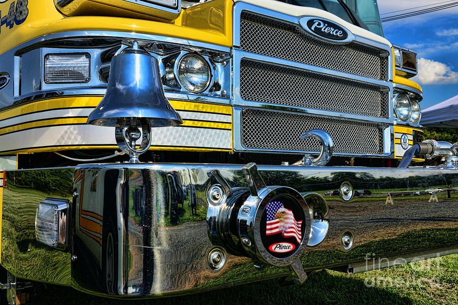 Fireman - Pierce Fire Truck Photograph