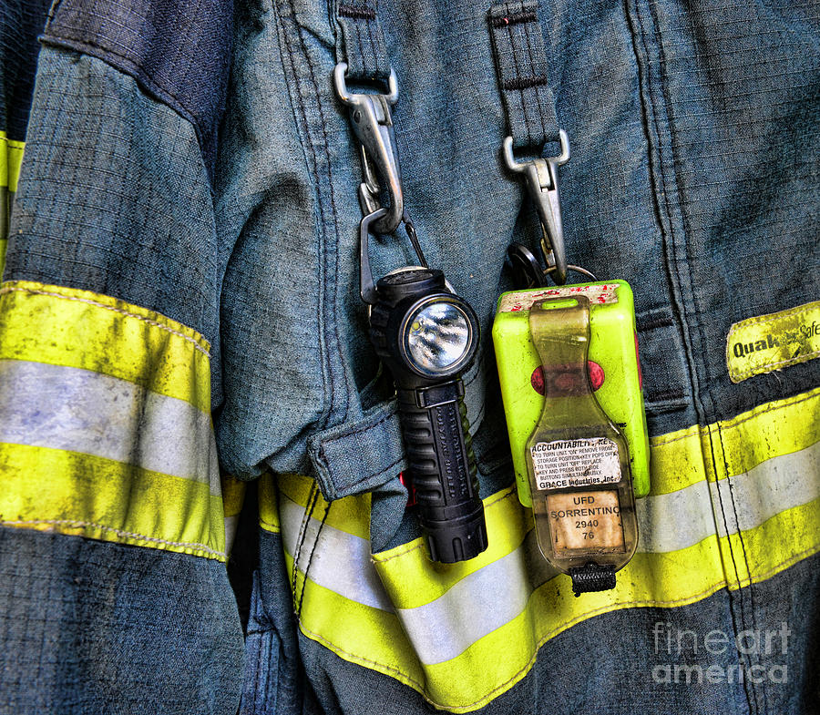 Fireman - The Firemans Coat Photograph  - Fireman - The Firemans Coat Fine Art Print
