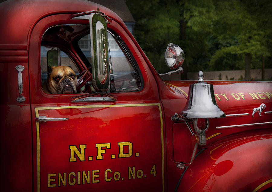 Fireman - This Is My Truck Photograph  - Fireman - This Is My Truck Fine Art Print