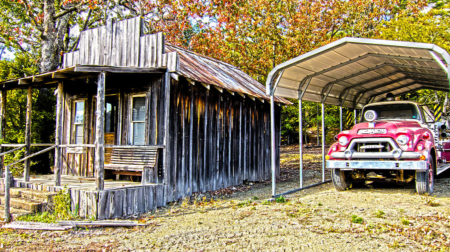 Fireman Cottage -ouachita Mountains Photograph - Fireman Cottage by Douglas Barnard