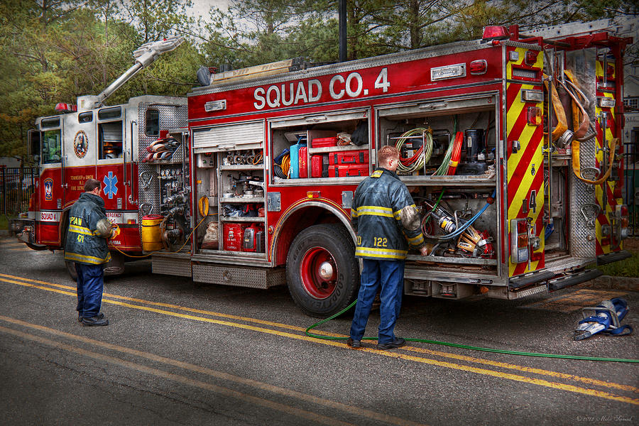 Firemen The Modern Fire Truck By Mike Savad