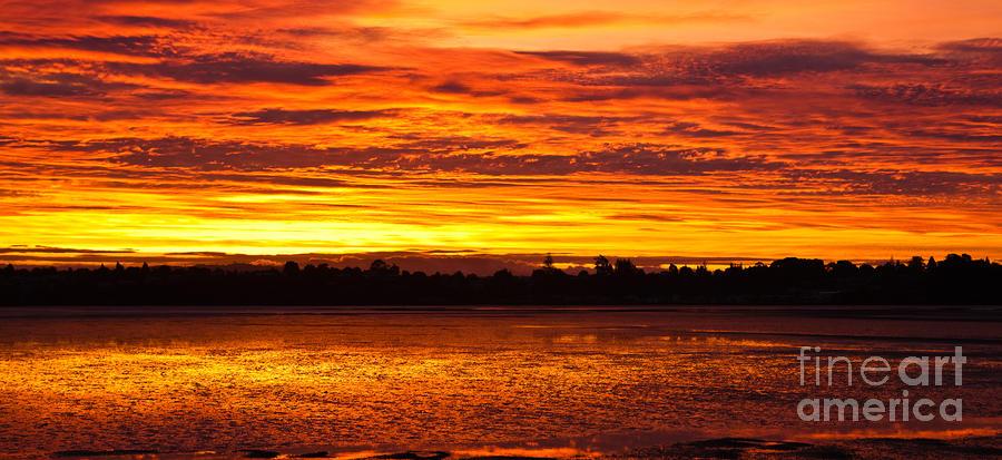 Firery Sunset Sky Photograph