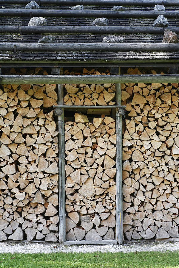Firewood Stack Photograph