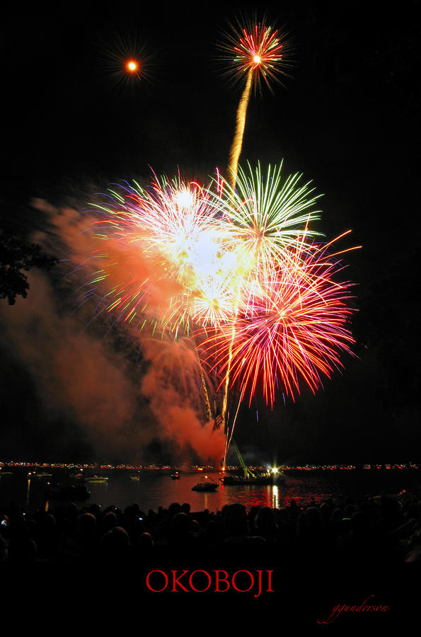 Fireworks At Lake Okoboji Photograph