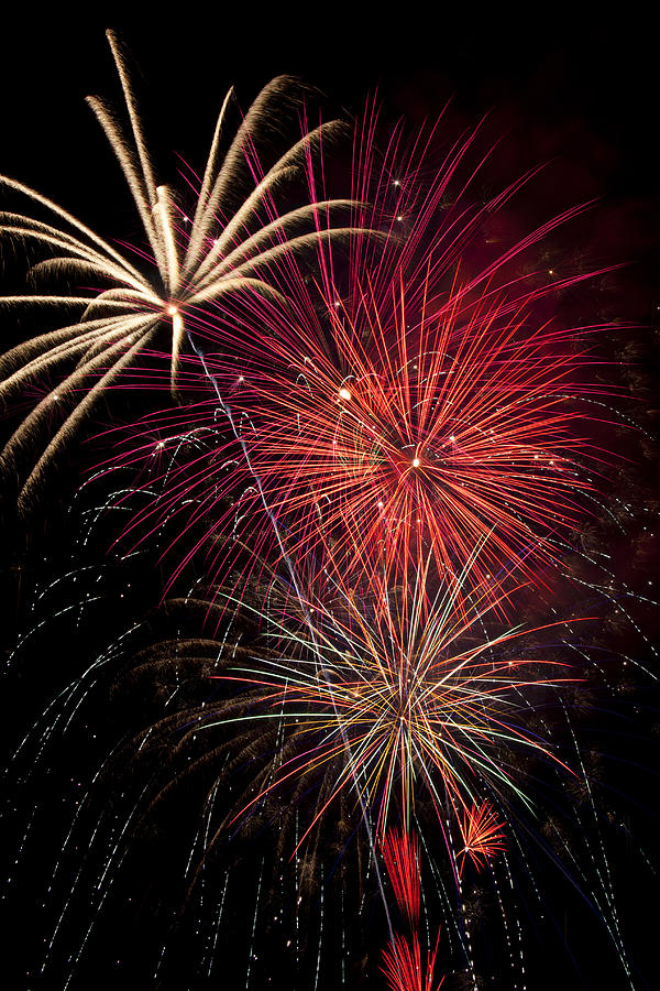 4th Of July  Photograph - Fireworks by Garry Gay
