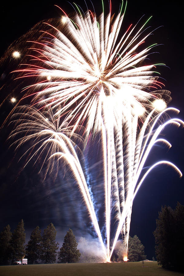 Fireworks No.3 Photograph  - Fireworks No.3 Fine Art Print
