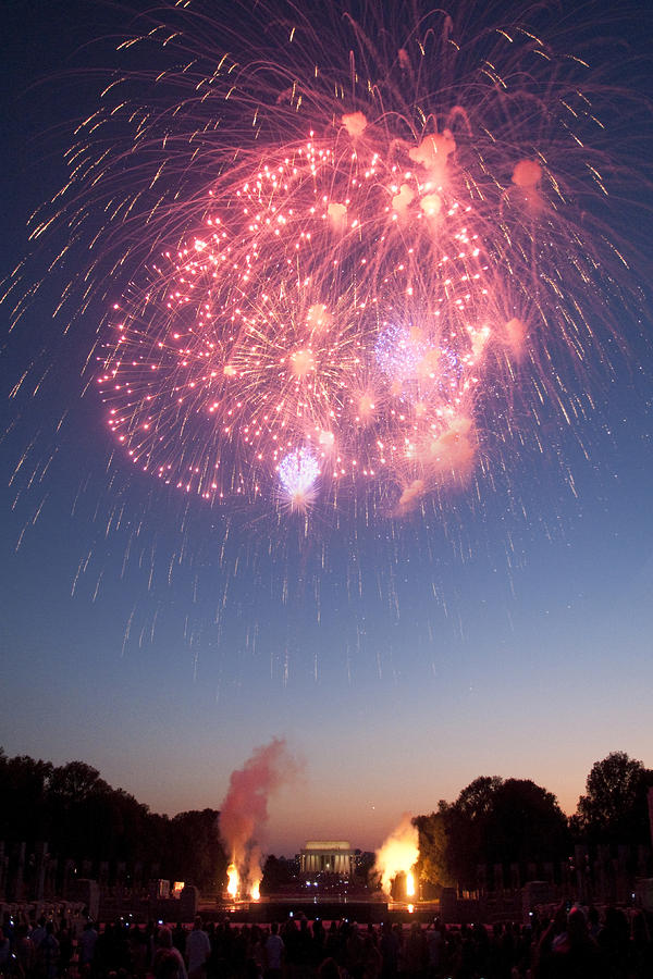 Fireworks Over Lincoln Photograph