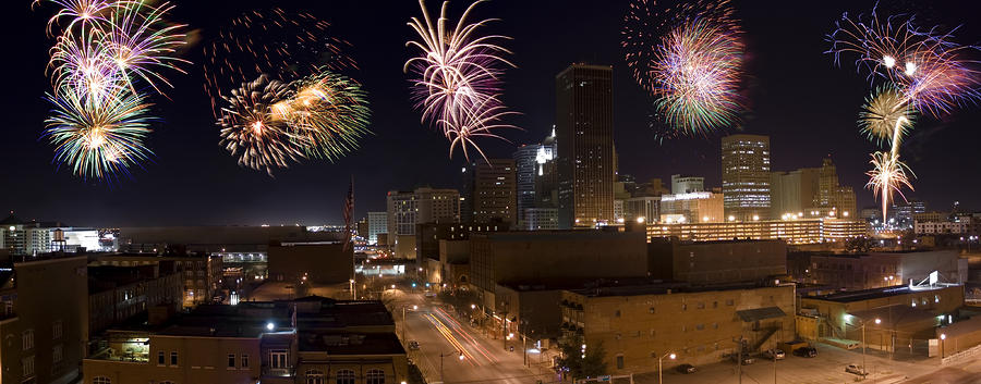 Fireworks Over The City Photograph