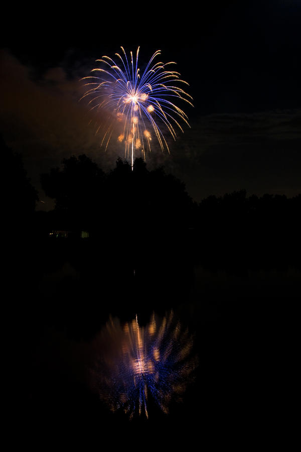 Fireworks Reflection Photograph