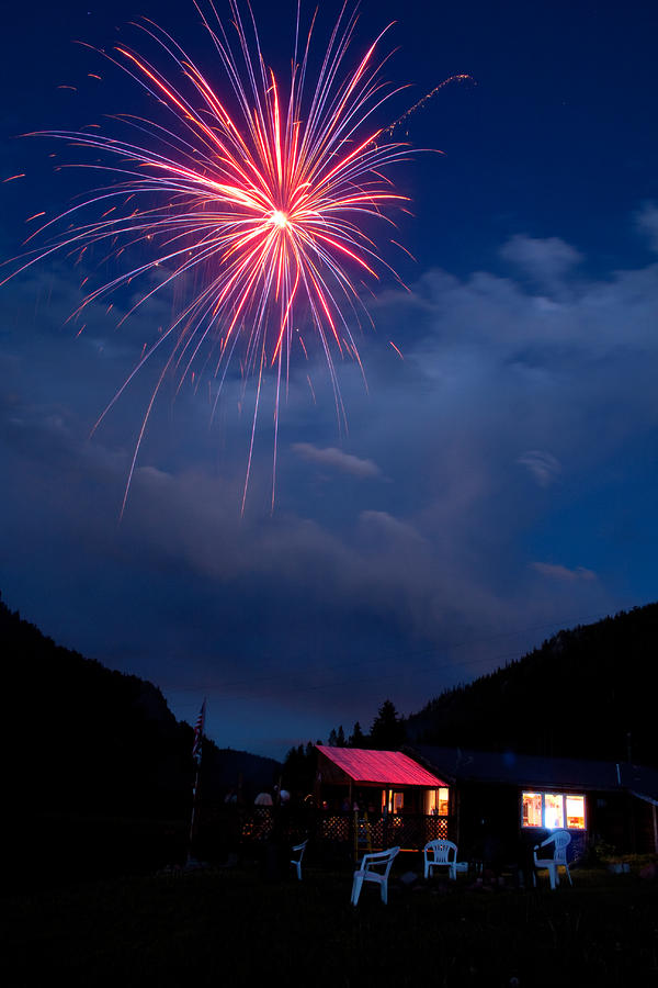 Fireworks Show In The Mountains Photograph