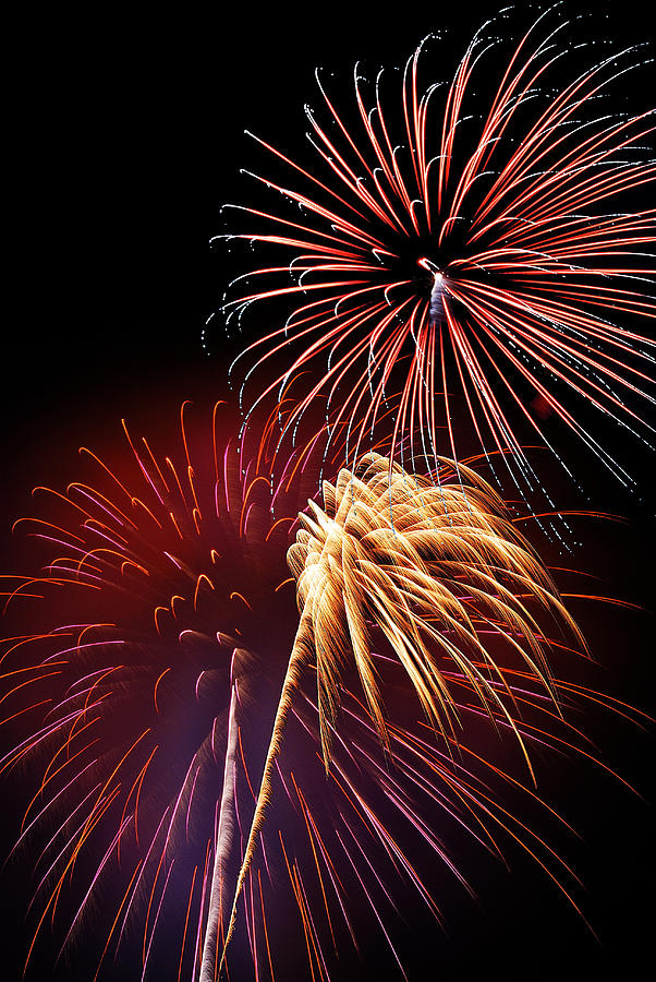 Fireworks Wixom 3 Photograph  - Fireworks Wixom 3 Fine Art Print